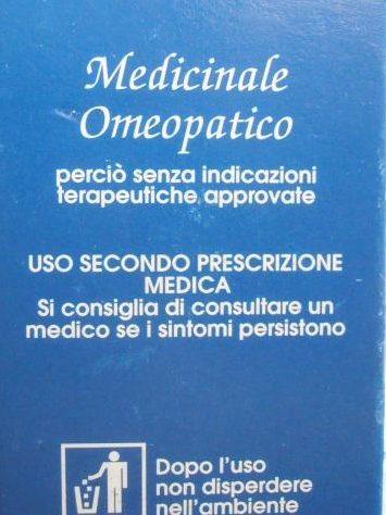 etichetta omeopatico