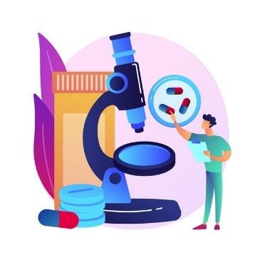 Illustrazione di concetto astratto di monitoraggio della droga. monitoraggio terapeutico dei farmaci, assistenza sanitaria di base, braccialetto alla caviglia, chimica clinica, misurazione del livello di farmaci nel sangue. Vettore gratuito
